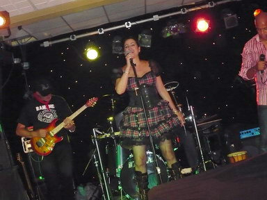 The band, The Prohibition, at Ansdell Primary School Ball.